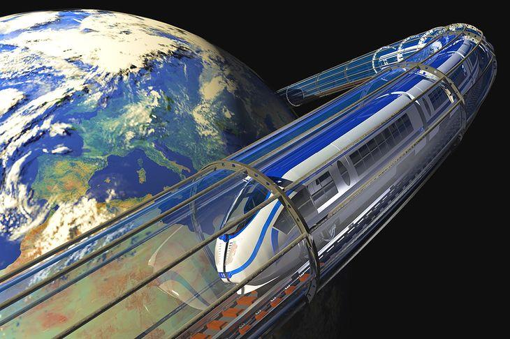 Rysunek pociągu na orbicie pochodzi z serwisu Shutterstock