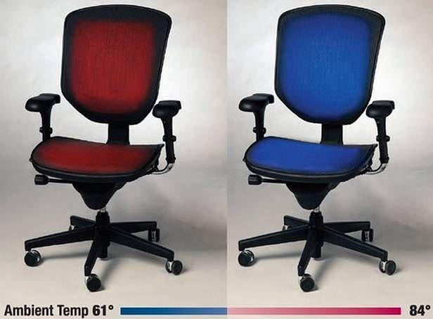 Krzesło z termoregulacją - pomysłowy sposób na przetrwanie upałów (Fot. Temptronics.com)