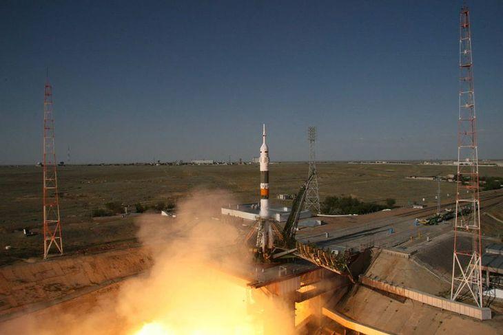 Start rakiety Sojuz-FG ze statkiem Sojuz TMA-04M Fot. Roskosmos