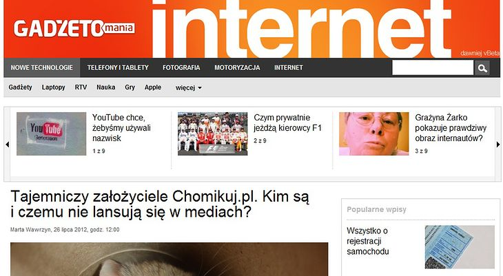 internet.gadzetomania.pl - dawniej vBeta