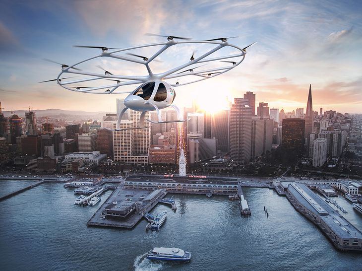 Elektryczny śmigłowiec Volocopter 2X.