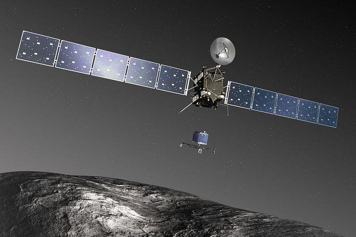 Wizualizacja sondy Rosetta i lądownika Philae