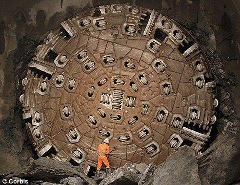 Wiertło górnicze (fot. Corbis, via: DailyMail)