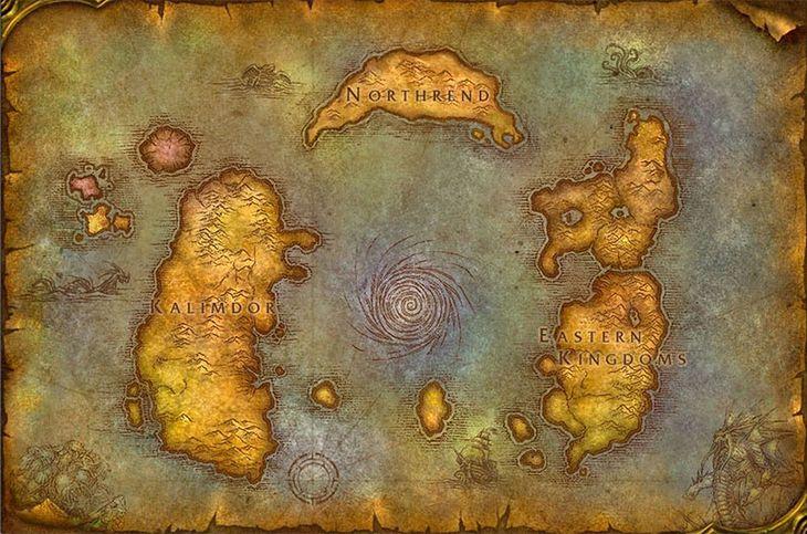 Mapa świata Azeroth