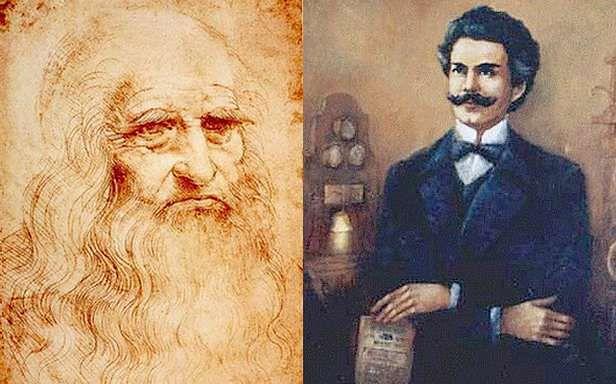 Leonardo da Vinci i Jan Szczepanik (Fot. Wikimedia Commons)