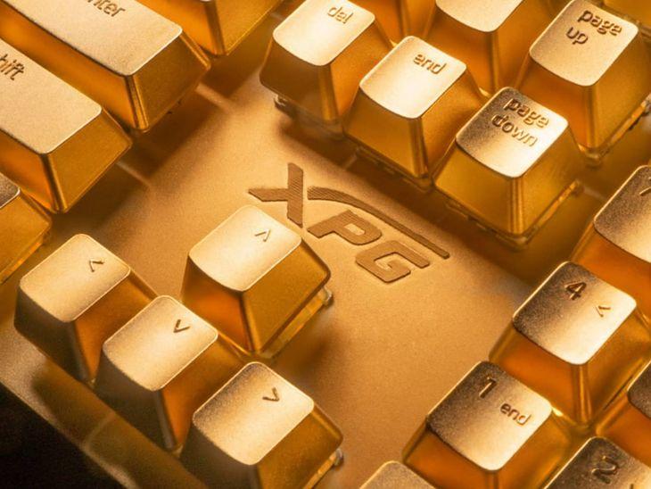 XPG Golden Summoner - klawiatura pokryta 24-karatowym złotem