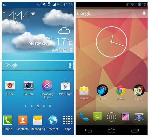 Touchwiz Nature UX 2.0 vs Czysty Android 4.2.2