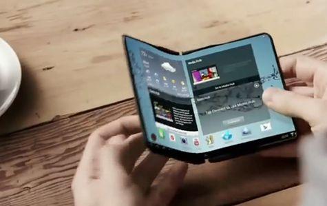 Koncept urządzenia ze składanym ekranem