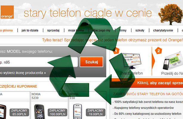 Recykling w Orange - jak pozbyć się zbędnego telefonu? (fot.: Orange)