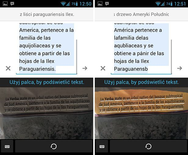 Tłumaczenie tekstu ze zdjęć w Tłumaczu Google