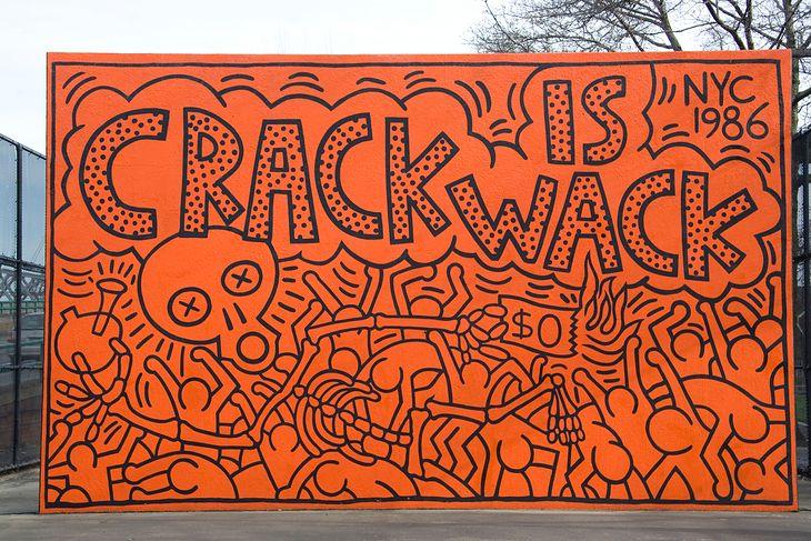 Crack jest do bani! Mural dotyczy narkotyków, ale świetnie oddaje opisywany problem.