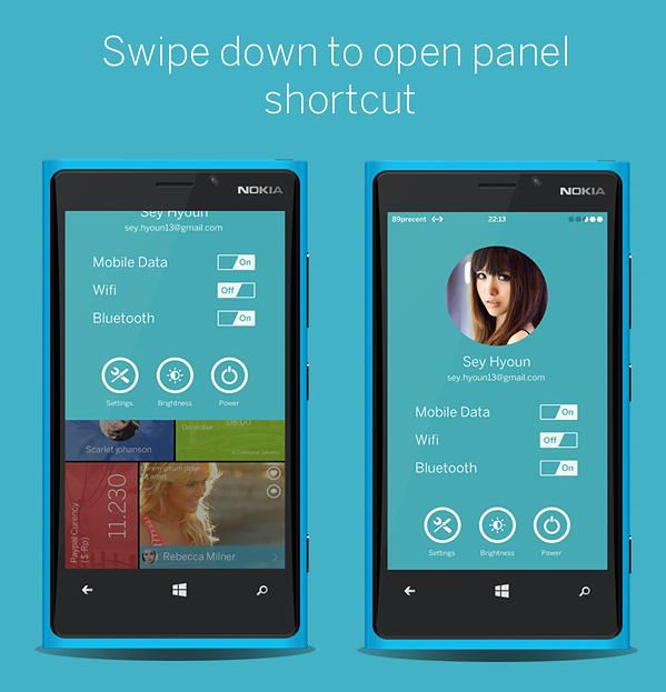 Koncept Windows Phone przygotowany przez Ghaniego Pradita z Indonezji