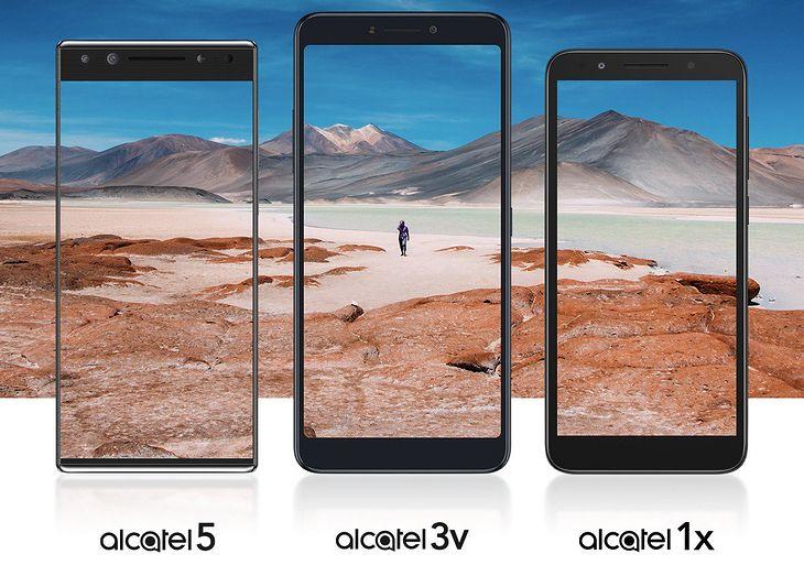 Od lewej: Alcatel 5, Alcatel 3v i Alcatel 1x