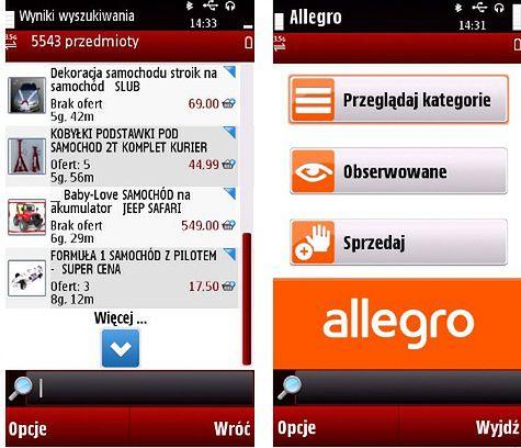 Allegro Przedstawia Aplikacje Dla Komorek Nokii Komorkomania Pl
