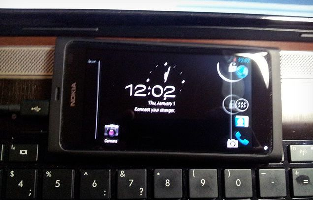Android 4.0 na Nokia N9 (fot. The Verge)
