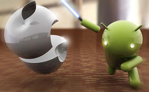 Android vs Apple, fot. Gadgetoz.com