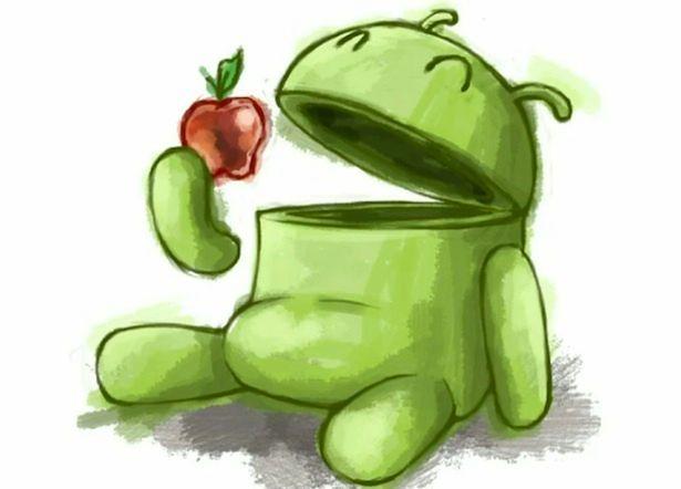 Android vs Apple, fot. talkandroidphones.com
