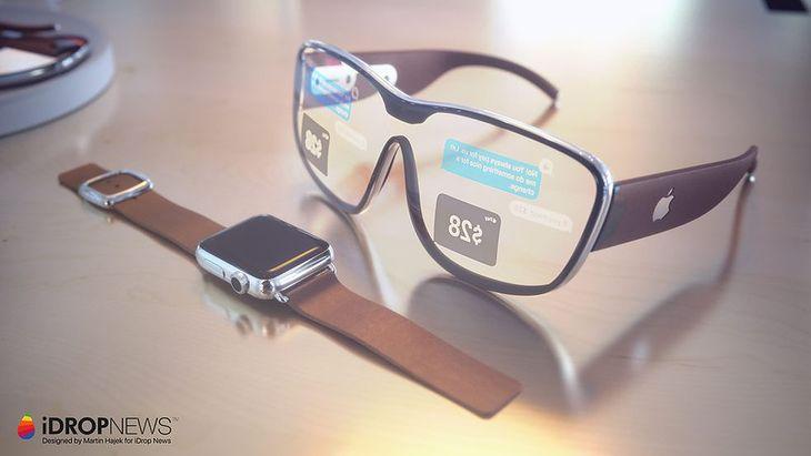 Koncepcyjna wizualizacja okularów Apple'a