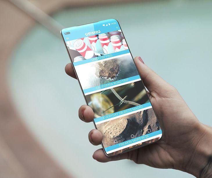 ZERO FRAME Concept Phone - koncepcyjna wizualizacja bezramkowego telefonu