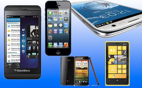 BlackBerry 10 na tle konkurencji (fot. pandapps.com)