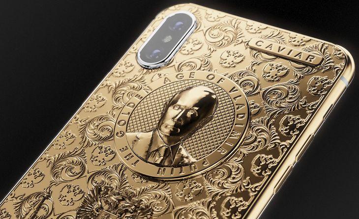 Apple iPhone X w edycji Leaders Putin Golden Age firmy Caviar