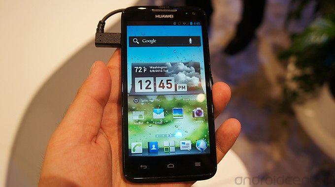 Huawei Ascend D Quad z nakładką | fot. androidcentral.com
