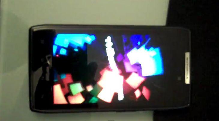 Motorola RAZR i ICS | fot. youtube.om