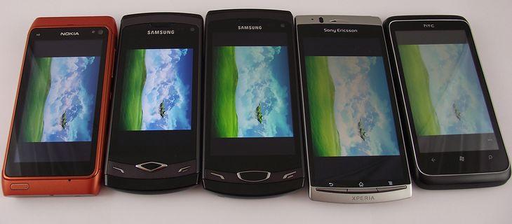 AMOLED, Super AMOLED, Super Clear LCD, Reality Display, Super LCD