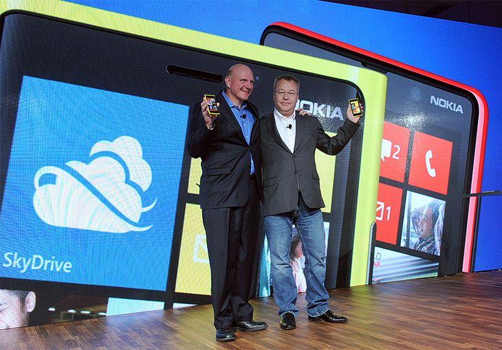 Steve Ballmer i Stephen Elop | fot. Nokia