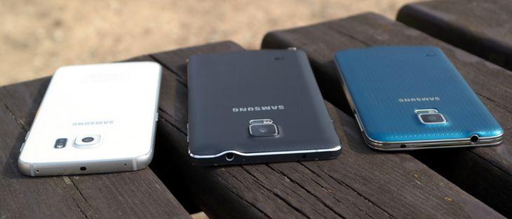 Galaxy S6 edge, Galaxy Note 4 i Galaxy S5
