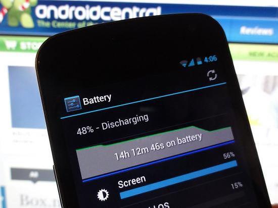 Jak rodzi sobie bateria Nexusa? (fot. Android Central)