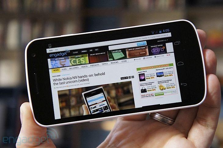 Biały Galaxy Nexus (fot. Engadget)