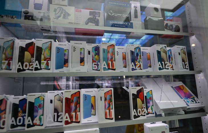 Wystawa z Samsungami serii A