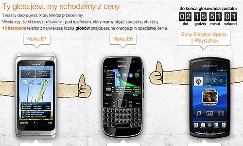 Orange - głosuj, któy telefon ma być tańszy (fot.: screen z Orange)