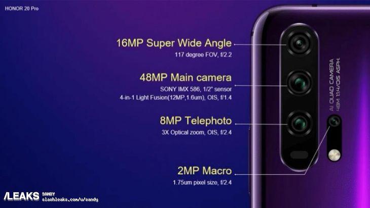 Specyfikacja aparatu w Honorze 20 Pro