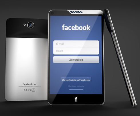 Facebook Phone - koncept Michała Banikowskiego (fot. concept-phones.com)