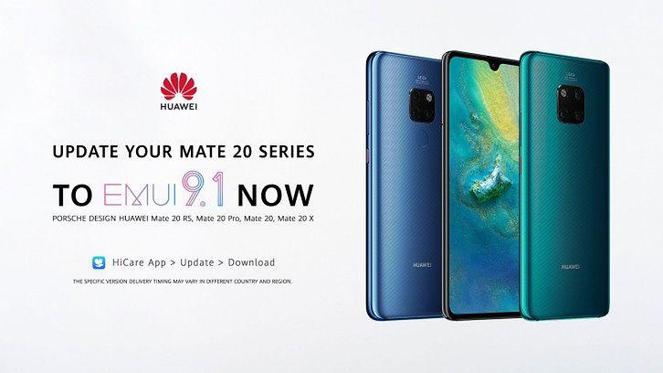 Modele Huawei Mate 20 z aktualizacją do EMUI 9.1