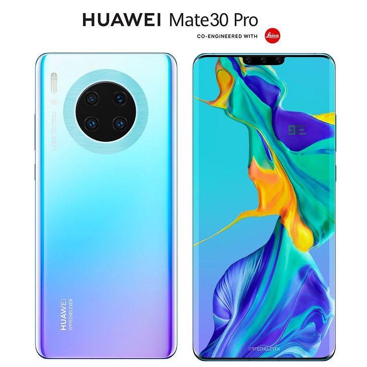 Huawei Mate 30 Pro - wizualizacja wyglądu