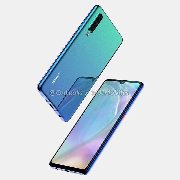Huawei P30 - wizualizacja