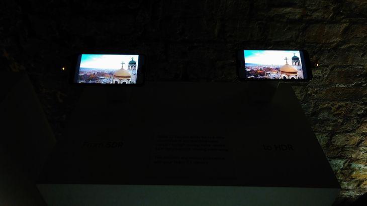 Nokia 7.1 - z lewej materiał w standardowej jakości, a z prawej ta sama treść po konwersji do HDR