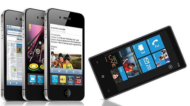 iPhone vs Windows Phone 7