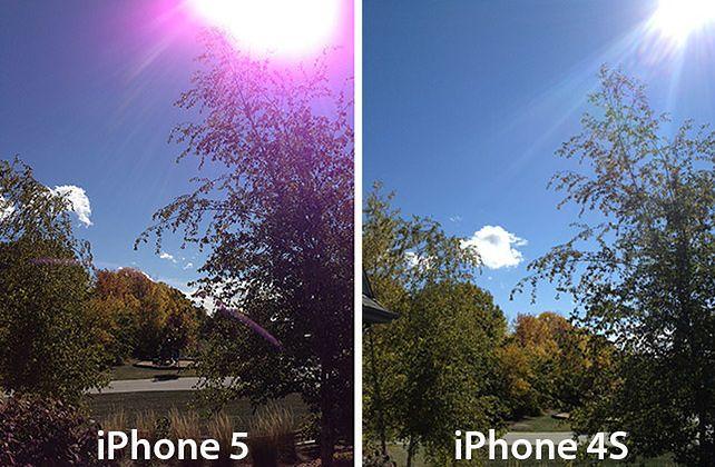Wada aparatu iPhone'a 5 (fot. mashable)
