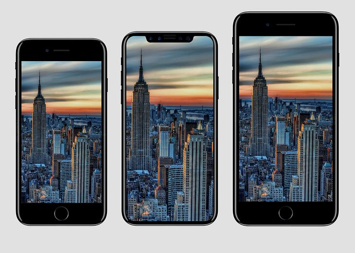 iPhone 7, iPhone 8 i iPhone 7 Plus - wizualizacja