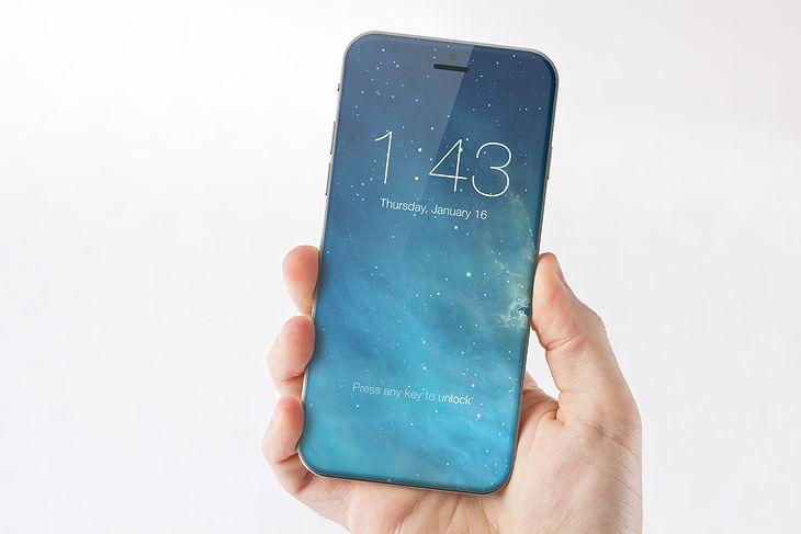 Grafika koncepcyjna przedstawiająca nadchodzącego iPhone'a