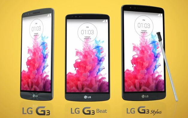 LG G3, LG G3 Beat i LG G3 Stylus