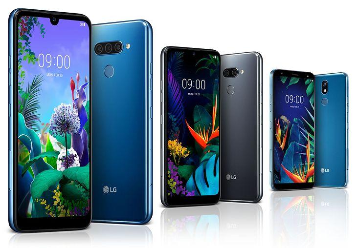 Od lewej: LG Q60, LG K50 i LG K40