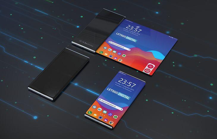 Wizualizacja zwijanego smartfonu LG
