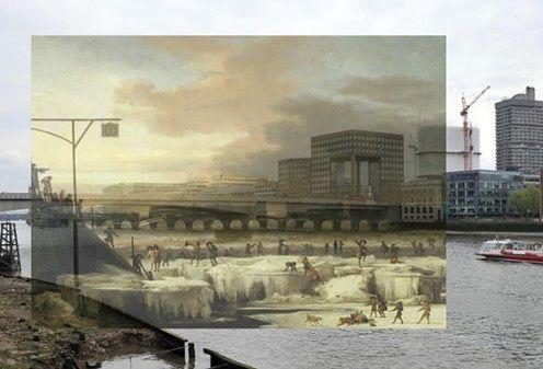 Rzeczywistość rozszerzona przez fotografie z Muzeum Londynu i iPhone