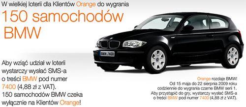 loteria orange - bmw do wygrania