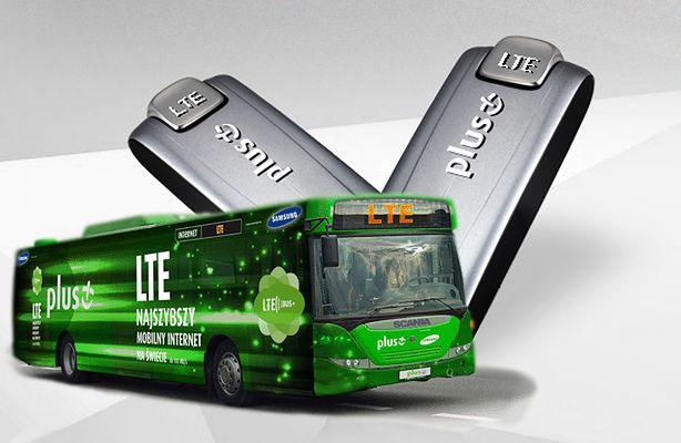 LTE Bus - przetestuj internet Plusa (fot.: Plus.pl)